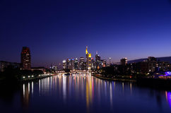 De horizon van Frankfurt-am-Main Stock Fotografie
