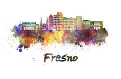 De horizon van Fresno V2 in waterverf stock illustratie