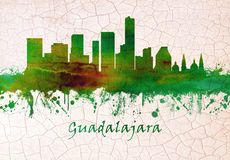 De horizon van Guadalajara Mexico stock illustratie