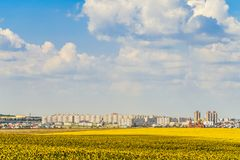 De horizon van de Gubkinstad, Belgorod-gebied, Rusland stock foto's