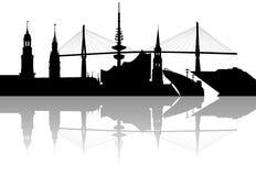 De horizon van Hamburg Royalty-vrije Stock Afbeeldingen