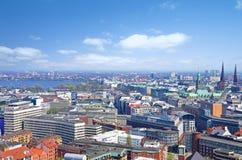 De horizon van Hamburg alster Stock Foto's