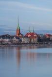 De Horizon van Helsinki bij Schemer Royalty-vrije Stock Afbeelding