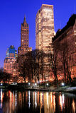 De horizon van het Central Park en van Manhattan, de Stad van New York Stock Foto's