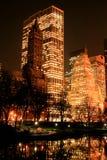 De horizon van het Central Park en van Manhattan, de Stad van New York Stock Foto's