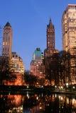 De horizon van het Central Park en van Manhattan, de Stad van New York Royalty-vrije Stock Foto's