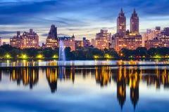De horizon van het Central Park van de Stad van New York Royalty-vrije Stock Afbeelding