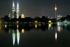 De Horizon van het Centrum van de Stad van Kuala Lumpur Stock Foto's