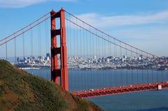 Golden Gatehorizon royalty-vrije stock afbeeldingen