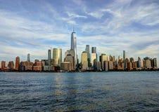 De horizon van het Lower Manhattan Royalty-vrije Stock Foto's