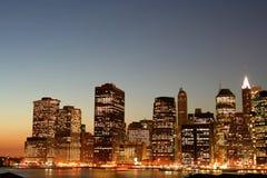 De horizon van het Lower Manhattan royalty-vrije stock afbeelding