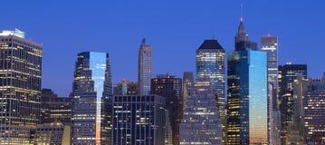 De Horizon van het Lower Manhattan Stock Afbeeldingen