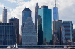 De horizon van het Lower Manhattan stock foto's
