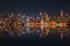 De horizon van het Lower Manhattan stock fotografie