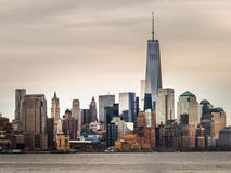 De horizon van het Lower Manhattan Stock Foto's