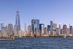 De horizon van het Lower Manhattan Stock Afbeelding