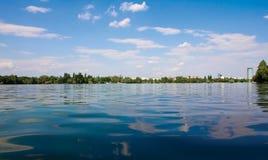 De Horizon van het park stock afbeeldingen