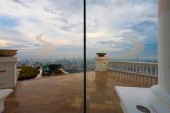 De Horizon van het Restaurantskybar Bangkok van de terrassirocco Royalty-vrije Stock Afbeeldingen