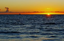 De Horizon van het Schip van de cruise Stock Afbeeldingen