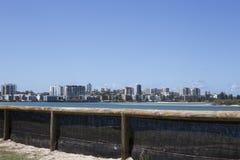 De Horizon van het stadsstrand Royalty-vrije Stock Afbeeldingen