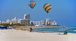 De horizon van het Strand van Miami Royalty-vrije Stock Foto