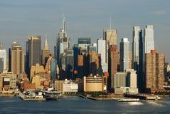 De horizon van het Times Square van de Stad van New York Stock Fotografie