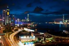De Horizon van Hongkong. Stock Foto