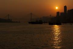 De Horizon van Hongkong royalty-vrije stock fotografie