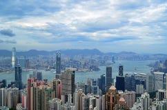 De Horizon van Hongkong Royalty-vrije Stock Foto's