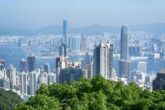 De Horizon van Hongkong Royalty-vrije Stock Afbeeldingen