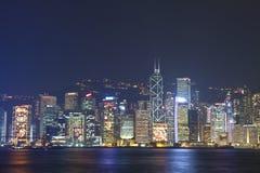 De horizon van Hongkong bij Kerstmis 2011 Stock Afbeeldingen