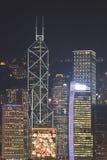 De horizon van Hongkong bij Kerstmis 2011 Stock Foto's