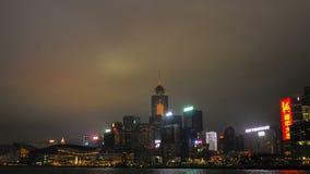 De Horizon van Hongkong Geschoten op Canon 5D Mark II met Eerste l-Lenzen stock footage