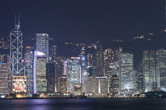 De horizon van Hongkong in Tsim Sha Tsui Royalty-vrije Stock Afbeelding