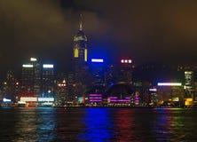De horizon van Hongkong van de binnenstad Stock Foto's