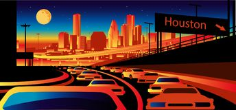 De Horizon van Houston Texas vector illustratie