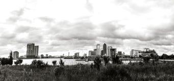 De Horizon van Jacksonville op Oostkust van Florida Stock Foto