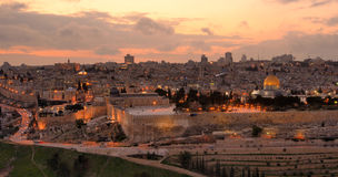 De Horizon van Jeruzalem royalty-vrije stock foto's