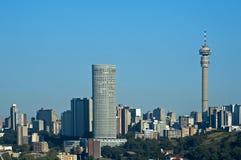 De horizon van Johannesburg Royalty-vrije Stock Fotografie