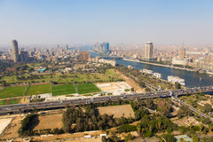 De horizon van Kaïro - Egypte Royalty-vrije Stock Afbeelding