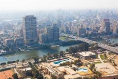 De horizon van Kaïro - Egypte Royalty-vrije Stock Afbeeldingen