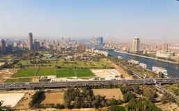 De horizon van Kaïro - Egypte Stock Afbeeldingen