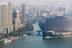 De horizon van Kaïro - Egypte Stock Foto