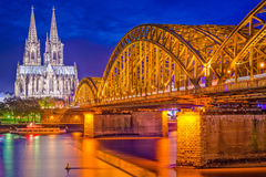 De Horizon van Keulen, Duitsland Royalty-vrije Stock Foto