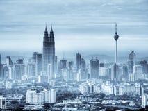 De horizon van Kuala Lumpur. Stock Afbeeldingen