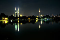 De horizon van Kuala Lumpur Stock Afbeelding