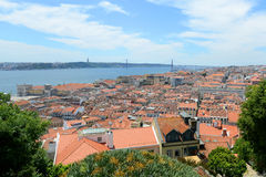 De Horizon van Lissabon en Tejo River, Lissabon, Portugal Royalty-vrije Stock Foto