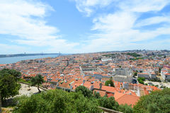De Horizon van Lissabon en Tejo River, Lissabon, Portugal Stock Fotografie