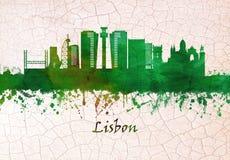 De Horizon van Lissabon Portugal vector illustratie