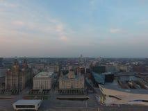 De horizon van Liverpool stock afbeeldingen